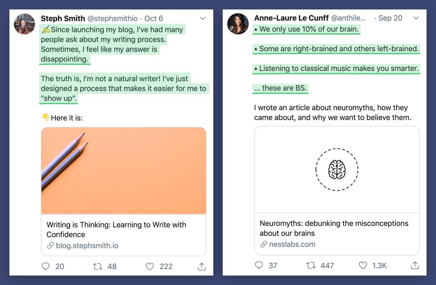 Anne-Laure Le Cunff Tweet